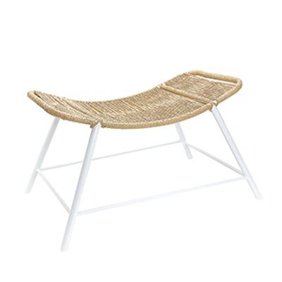 Metal Bench With Braided Seat