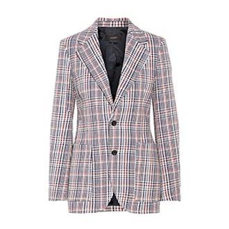 Albert Checked Cotton-Tweed Blazer