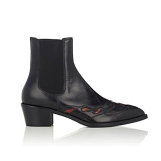 Western-Inspired Leather Chelsea Boots
