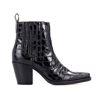 Callie Embossed-Leather Ankle Boots