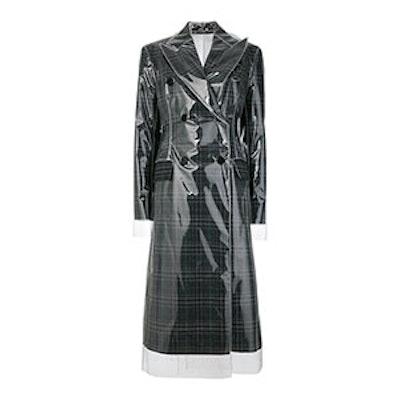 Matte Coated Check Coat