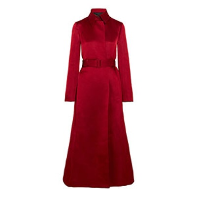 Neyton Silk-Satin Coat