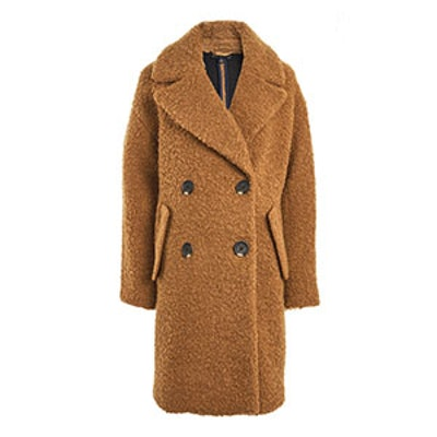 Alicia Boucle Slouch Coat