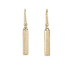 Barrels Drop Earrings With Diamonds In 18K Gold