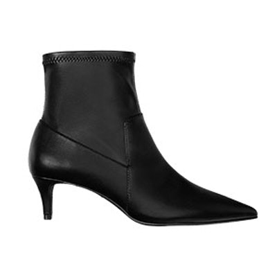 Kitten Heel Ankle Boots With Pointed Toes