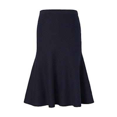 Wool-Blend Trumpet Midi Sweater Skirt