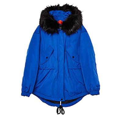 Hooded Nylon Parka Coat