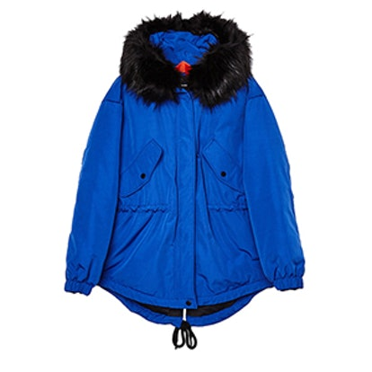 Hooded Nylon Parka Coat