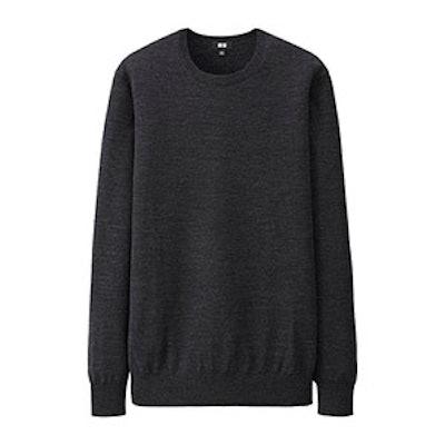 Women Extra Fine Merino Crew Neck Sweater