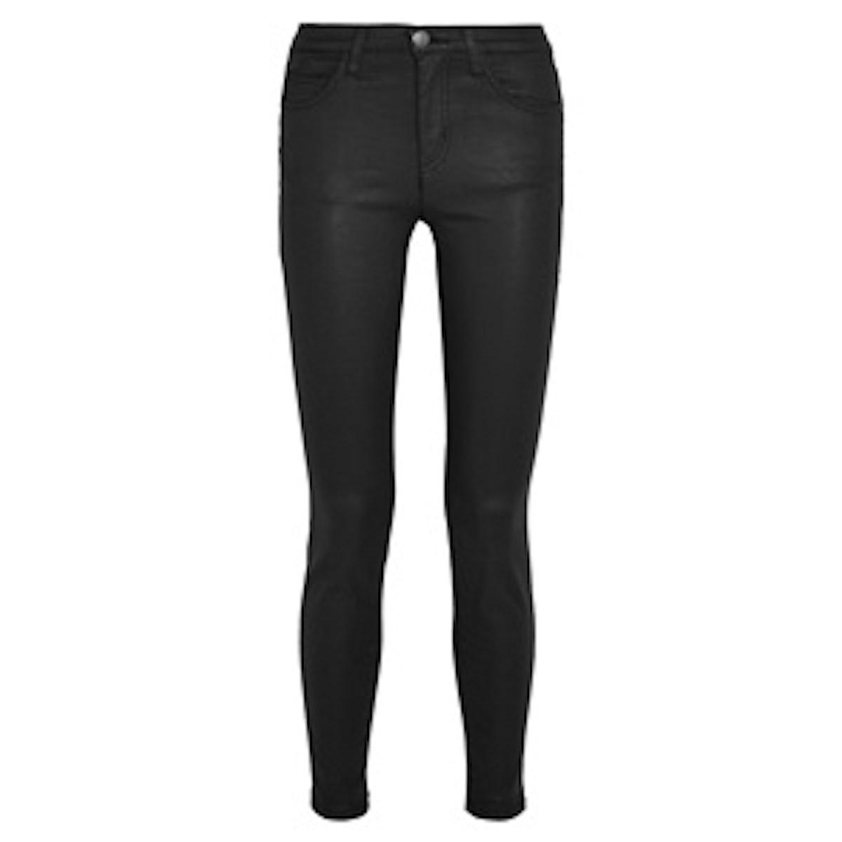 The High Waist Coated Skinny Jeans