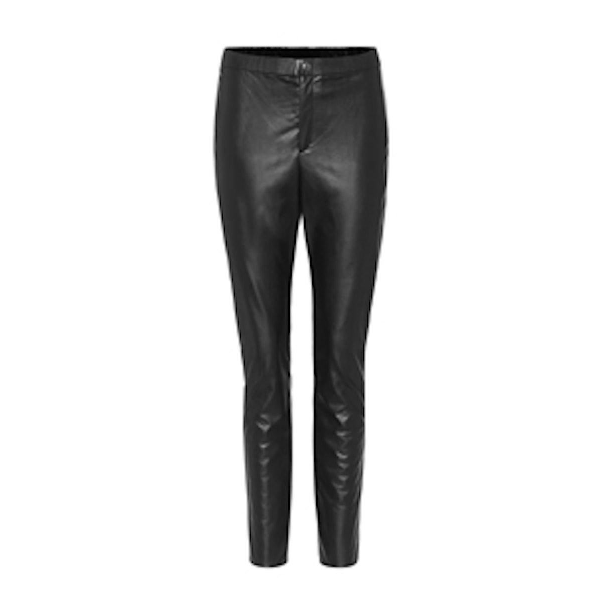 Zeffery Faux Leather Trousers