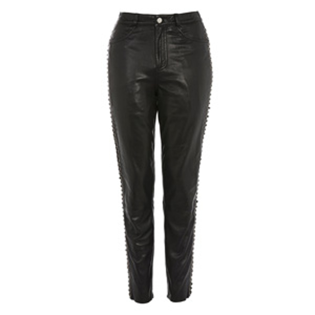 Leather Lace Up Trousers