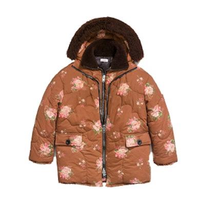Oversized Eiderdown Printed Puffer Jacket