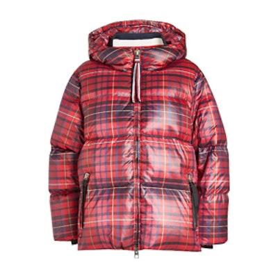 Printed Down Jacket With Hood