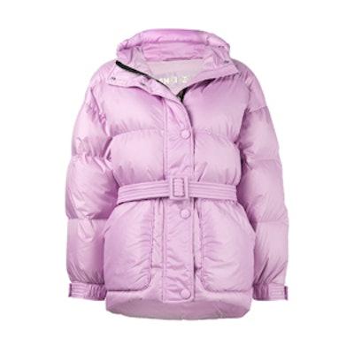 Purple Michelin Belted Puffer Jacket