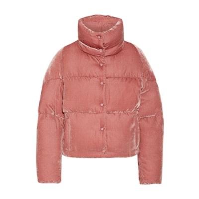 Cercis Quilted Velvet Down Jacket