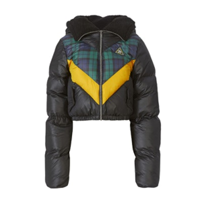 Quilted Chevron Puffer Jacket