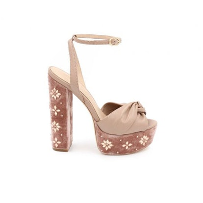 Claudette Crystal-Embellished Platform Sandals