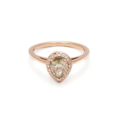 Pear Rosette Ring Rose