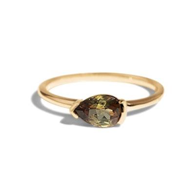 Nikko Pear Andalusite Ring