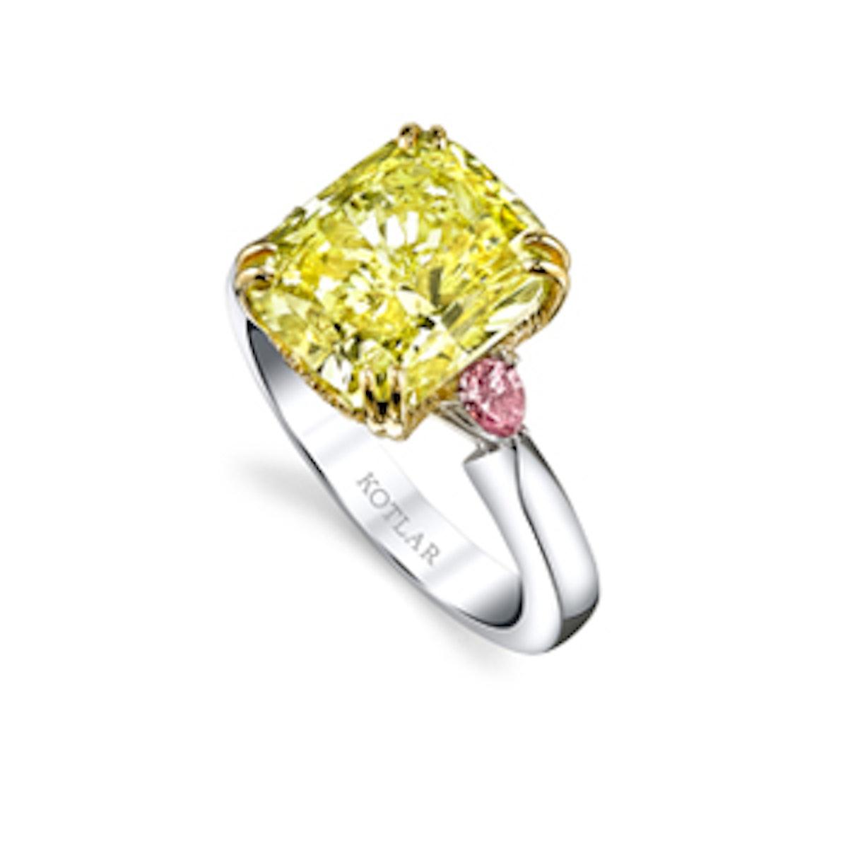 The Vault Platinum & 18 Karat Yellow Gold Ring