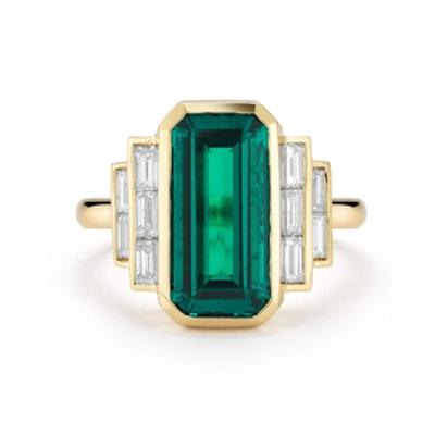 Emerald Art Deco Ring
