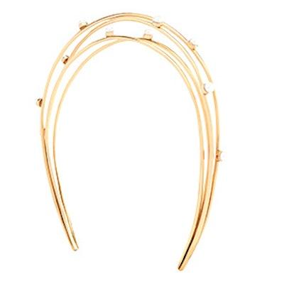 Gold-Plated Pearl Headband