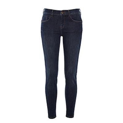 Mid Rise Push Up Skinny Jean
