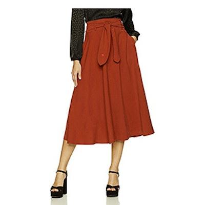 Dear Drew By Drew Barrymore Women's Mulberry Street Tie Front Skirt