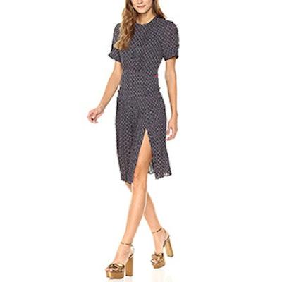 Dear Drew By Drew Barrymore Women's Elizabeth Street Short Sleeve Pleated Dress