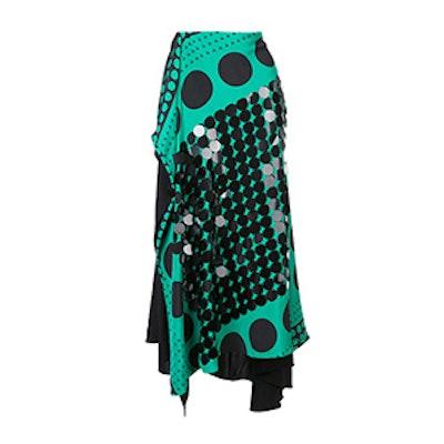 Draped Patterned Skirt