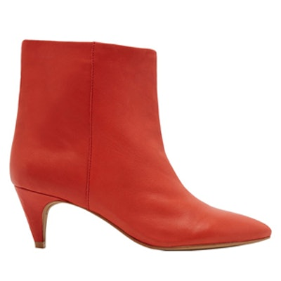 Dee Leather Kitten Heel Booties