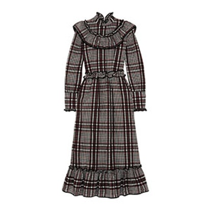 Charron Checked Cotton-Blend Seersucker Midi Dress