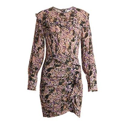 Jirvana Floral-Print Chiffon Dress