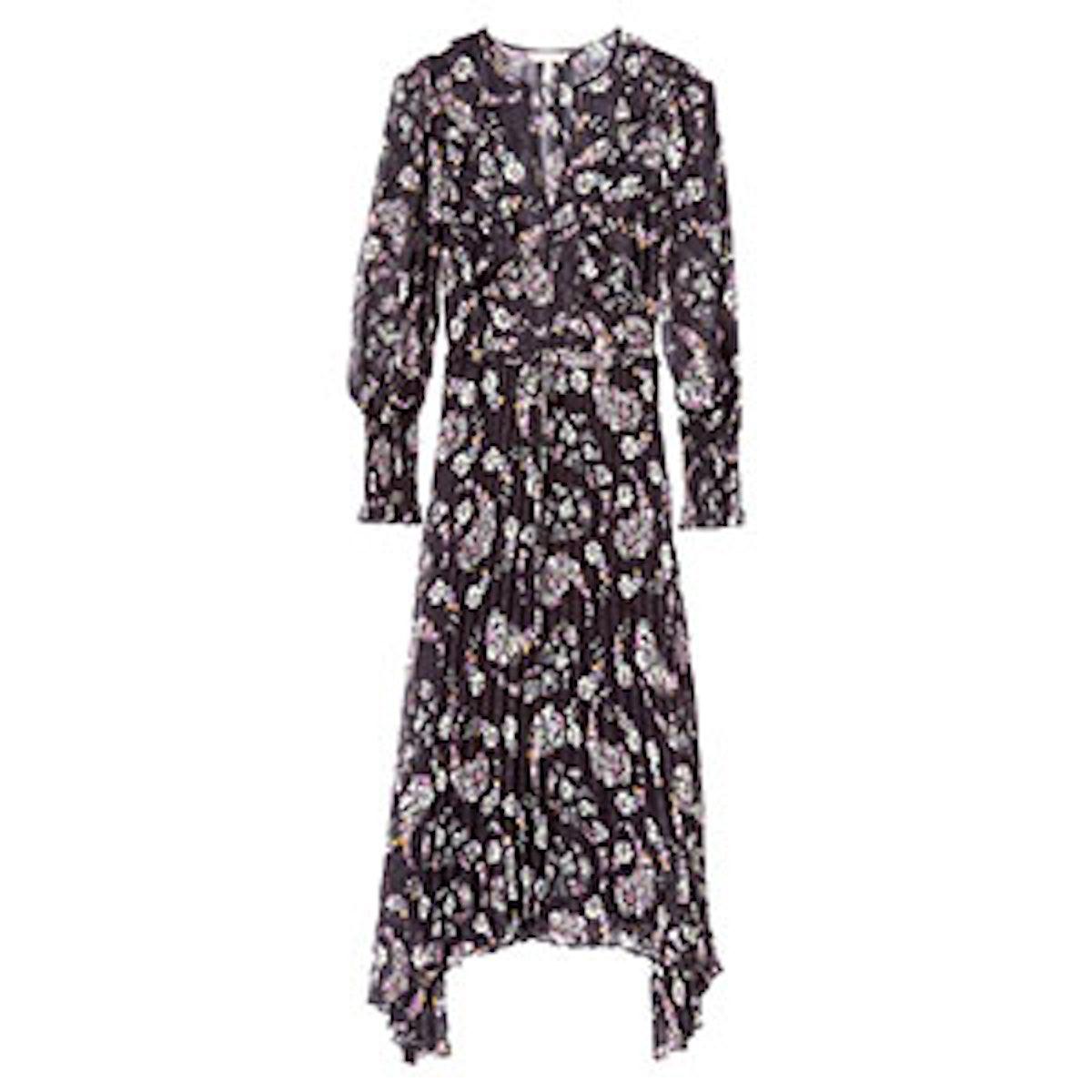 Jewel Paisley Pleated Dress