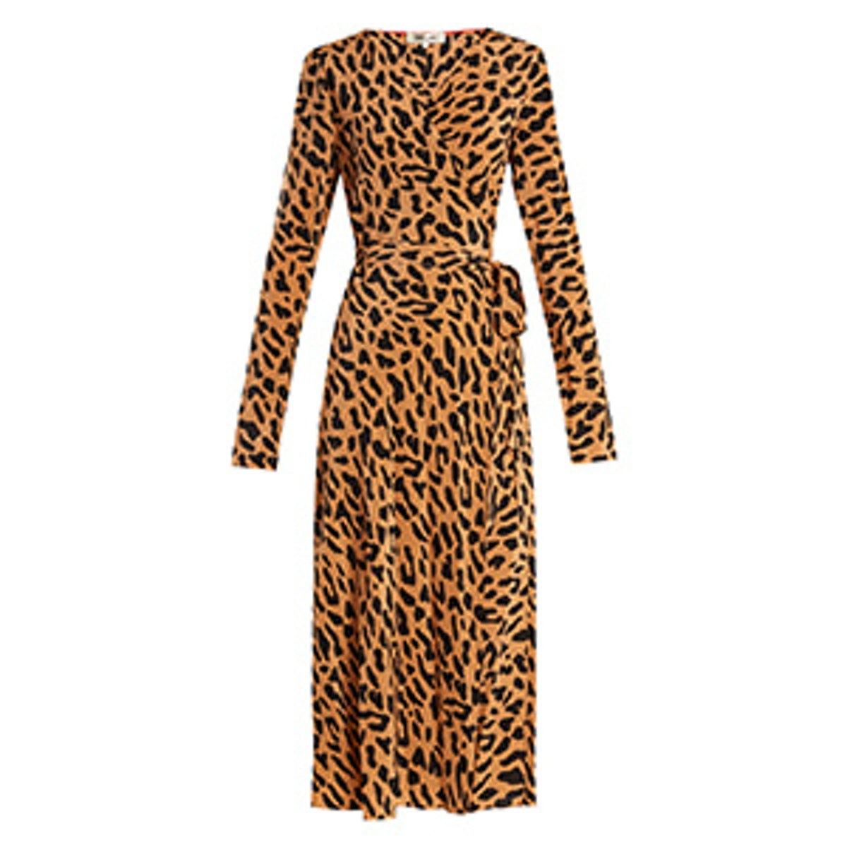 Long-Sleeve Woven Wrap Dress