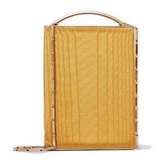 Mak Cotton-Moire And Leather Shoulder Bag