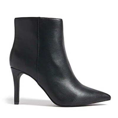Faux Leather Stiletto Ankle Boots