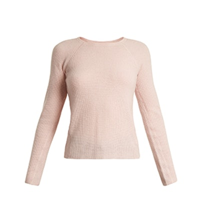 Karina Waffle-Knit Cashmere Sweater