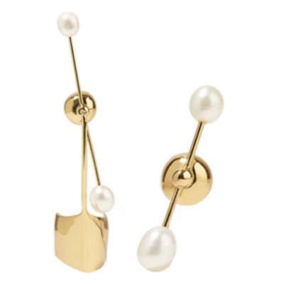 Cloud Nine Gold-Plated Pearl Earring