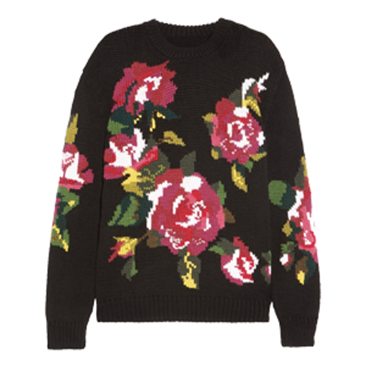Oversized Intarsia Wool And Cashmere-Blend Sweater