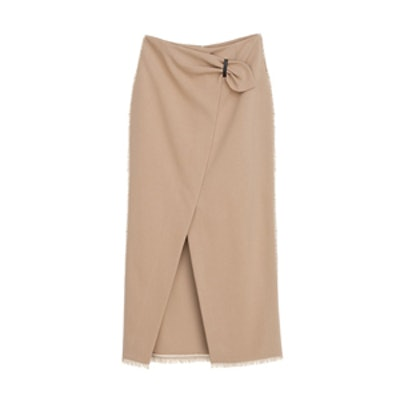Muse Wrap Front Pencil Skirt