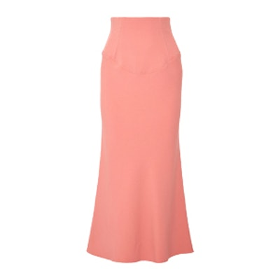 Stretch-Crepe Midi Skirt