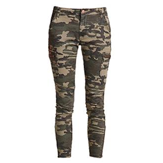 Zippered Camo Print Pants