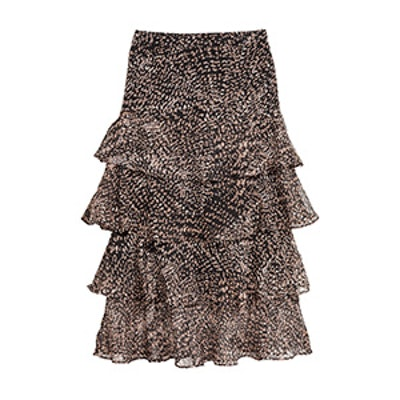 Calf-Length Tiered Skirt