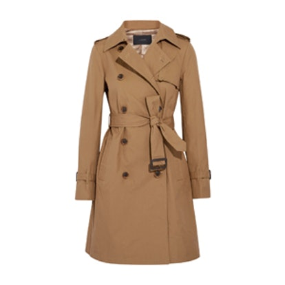 Cotton-Canvas Trench Coat