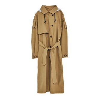 Trench Coat With Removable Hood