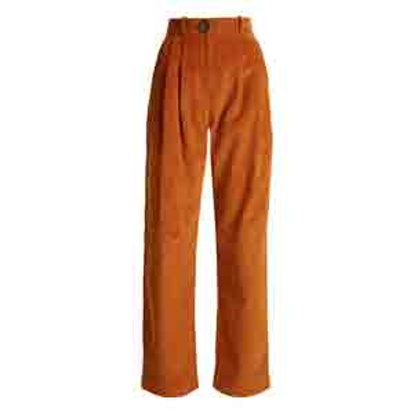 High-Rise Wide-Leg Corduroy Trousers