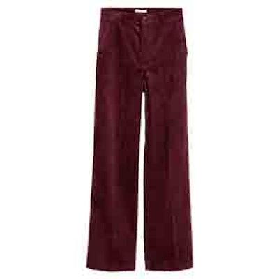Wide-Leg Corduroy Pants
