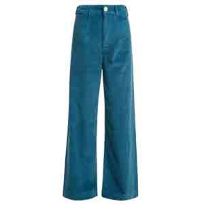 High-Rise Wide-Leg Corduroy Trousers